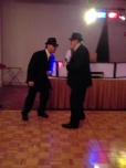 Shirley & Sharon's hubbys as the Blues Brothers
