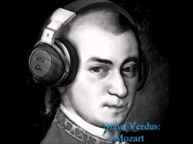 mozart with headphones