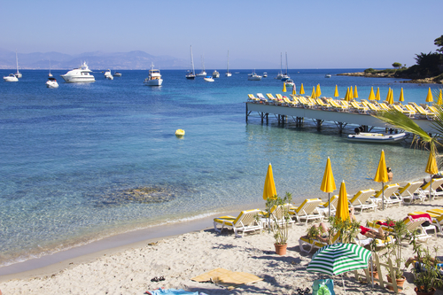 Beach in Antibes, South of France