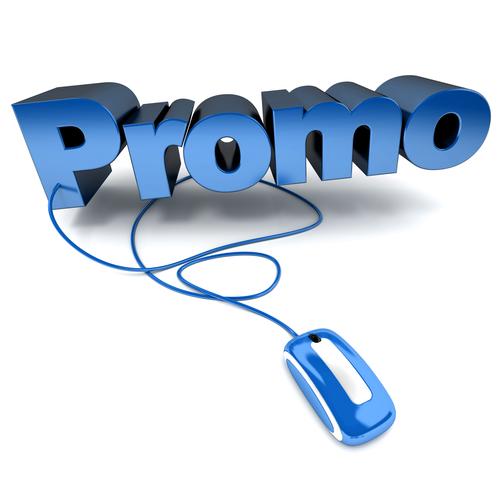 Online Promo in blue
