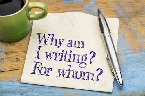 Why am I writing? For whom?