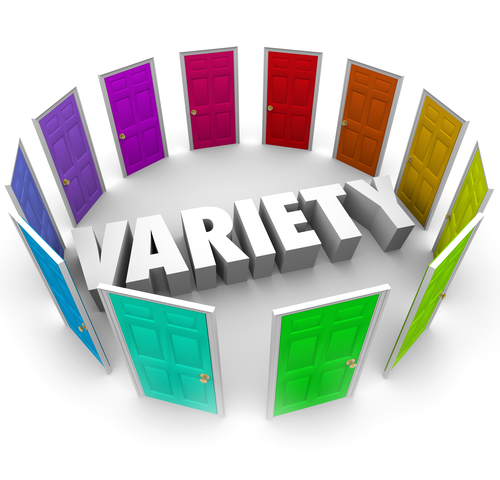 Variety Many Different Doors Choices to Choose Alernative Paths