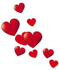 hearts-falling